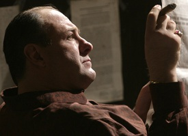 Tony Soprano Smoking a Cigar